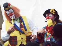 Bubbels and Ruffels the Clowns